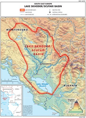 Lake Shkoder Basin map TWRMMed